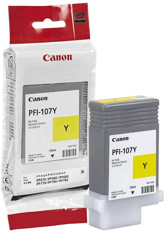 Canon Pfi-107y Original Yellow Ink Cartridge