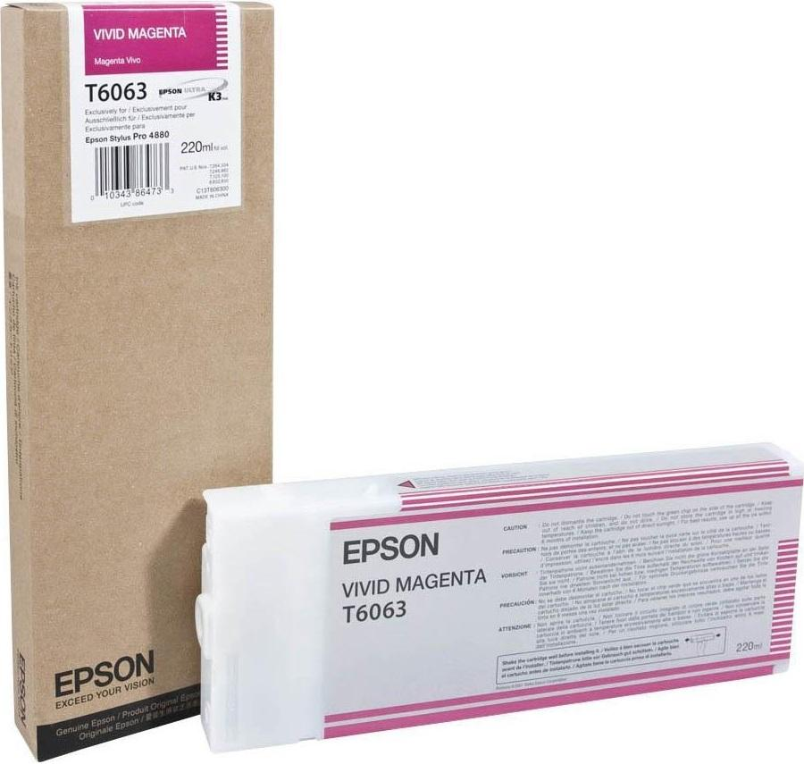 Epson T6063 Original Vivid Magenta Ink Cartridge