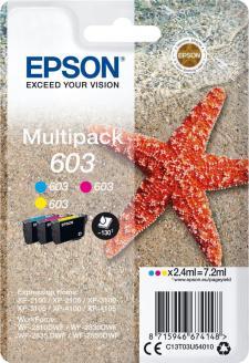 Epson 603 Original 3 Colour Ink Cartridge Multipack